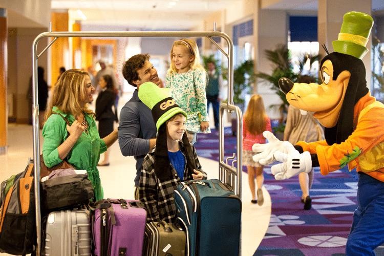 Llegada a los hoteles de Disney