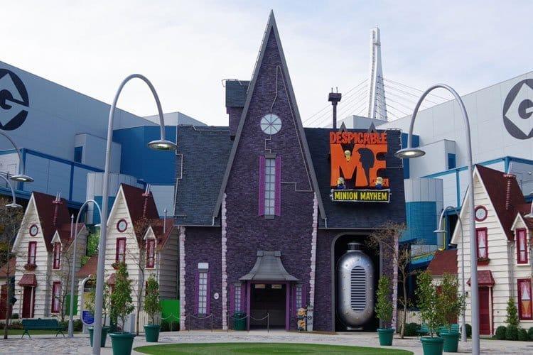 Los Minions en los juegos de Universal Studios en Orlando Florida