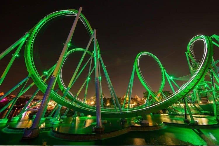 Hulk coaster, atracciones en Universal Studios
