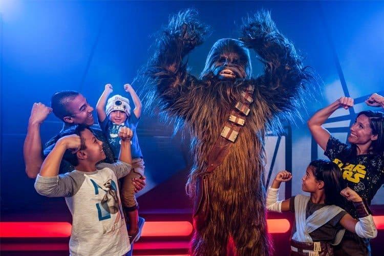 Personajes de Saga star Wars en Disney Parks
